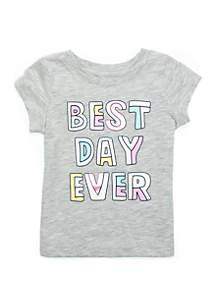Baby Girls Short Sleeve Best Day Tee