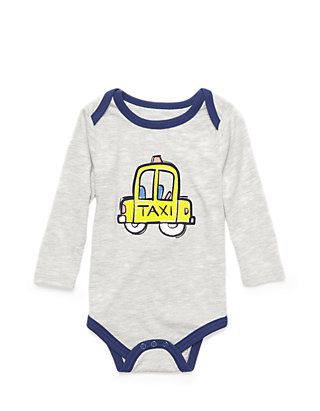 Baby Girl or Boy Short Sleeve Bodysuits with Nursery Rhymes detail