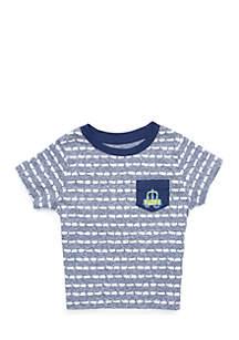Infant Boys Short Sleeve Tee with Pocket