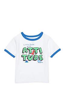 Infant Boys Short Sleeve Attitude Tee