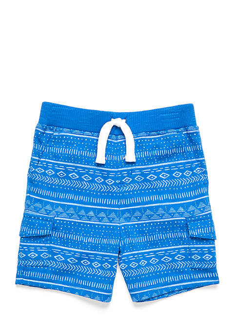 Nursery Rhyme® Printed Knit Cargo Shorts- Infant Boys