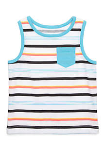 Printed Tank With Pocket Infant Boys
