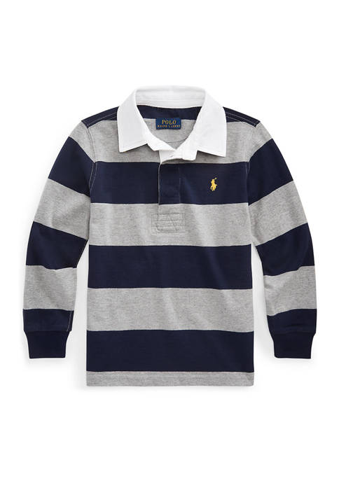 Toddler Boys Striped Cotton Rugby Shirt