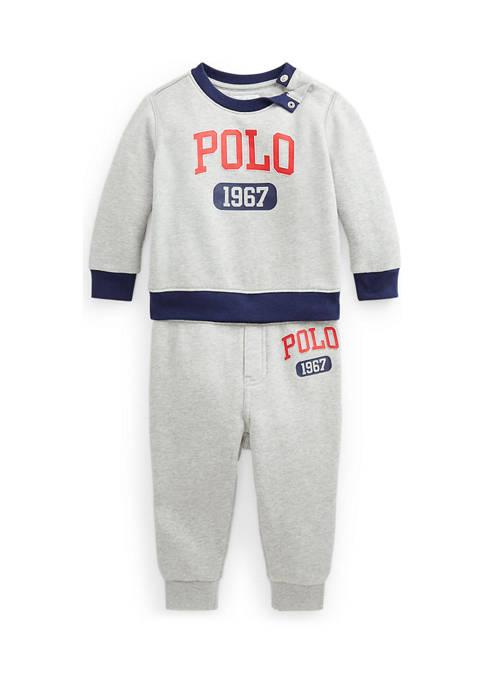 Baby Boys Graphic Fleece Sweatshirt & Pant Set