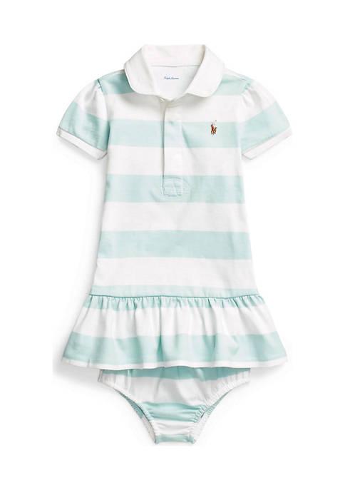 Ralph Lauren Childrenswear Baby Girls Cotton Jersey Rugby