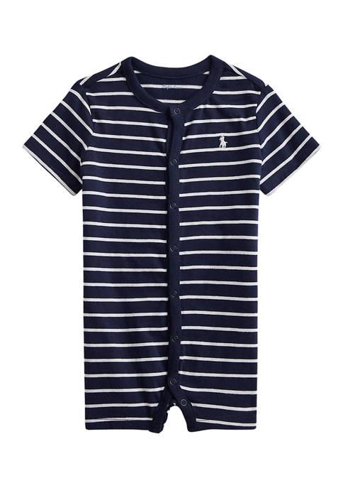 Baby Boys Striped Cotton Jersey Shortall