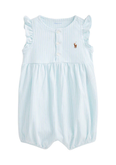 Baby Girls Striped Oxford Bubble Shortall