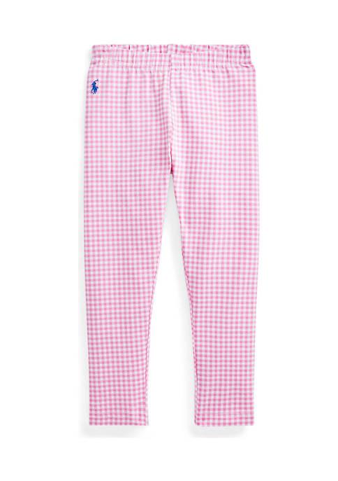 Ralph Lauren Childrenswear Toddler Girls Gingham Stretch Jersey