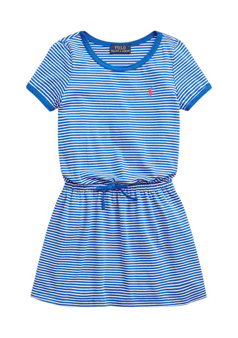 Toddler Girls Striped Cotton Jersey Tee Dress