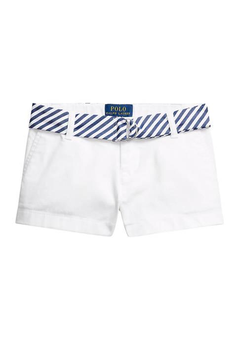 Ralph Lauren Childrenswear Toddler Girls Belted Stretch Chino