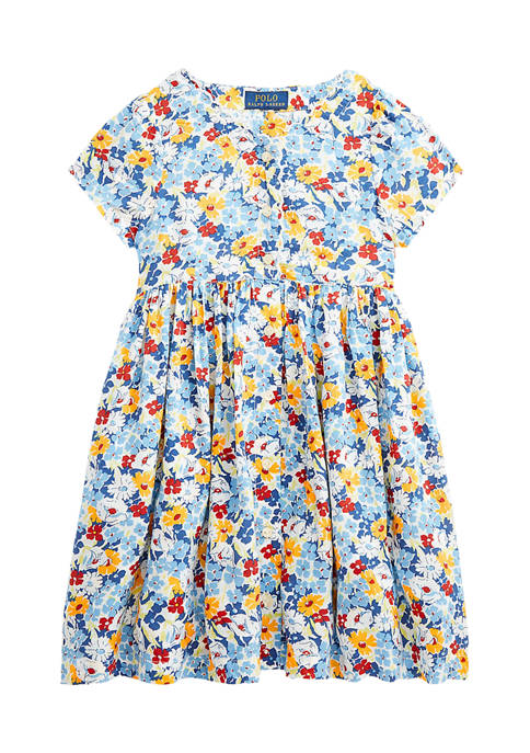 Toddler Girls Floral Empire Waist Dress