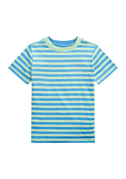Toddler Boys Striped Cotton Blend Jersey T-Shirt