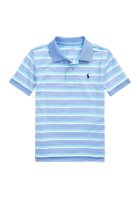 Toddler Boys Striped Performance Jersey Polo Shirt
