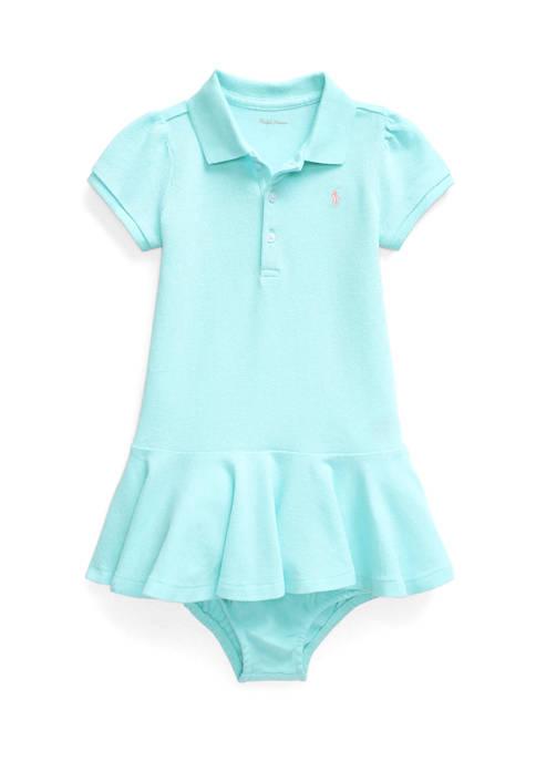 Baby Girls Piqué Polo Dress & Bloomer
