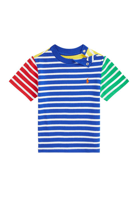 Baby Boys Striped Cotton Jersey T-Shirt