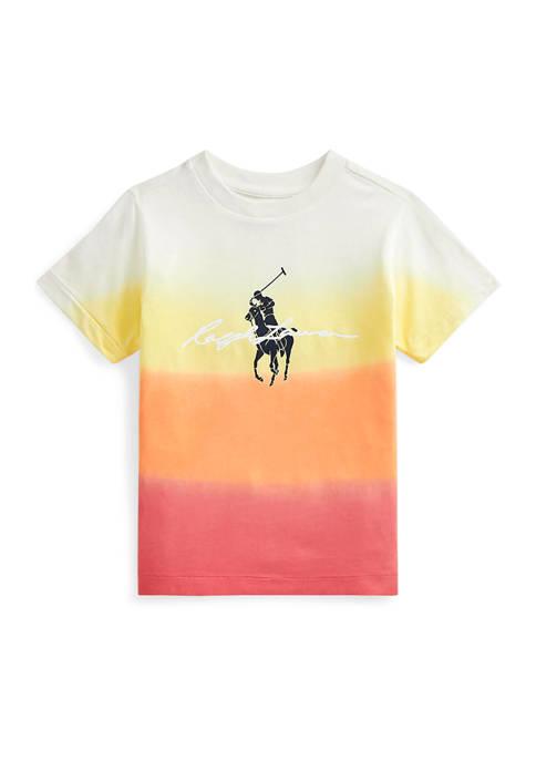 Ralph Lauren Childrenswear Toddler Boys Dip-Dyed Cotton Jersey
