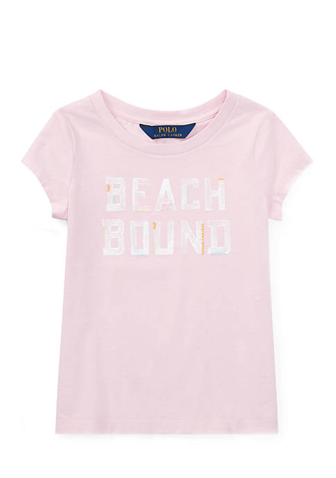 Ralph Lauren Childrenswear Girls Toddler Print Cotton Graphic