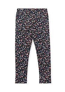 Toddler Girls Floral Jersey Leggings