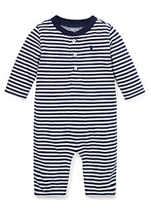 Infant Boys Stripe Jacquard Coverall