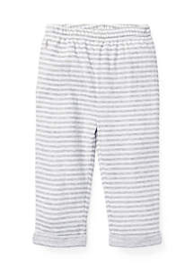 Ralph Lauren Childrenswear Infant Boys Striped Jacquard Pull-On Pants