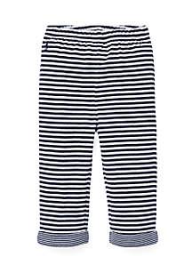 Ralph Lauren Childrenswear Infant Boys Striped Jacquard Pull-On Pants