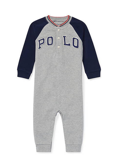 Ralph Lauren Childrenswear Infant Boys Cotton Mesh Henley