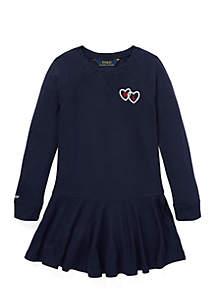 Toddler Girls Long Sleeve Graphic Dress