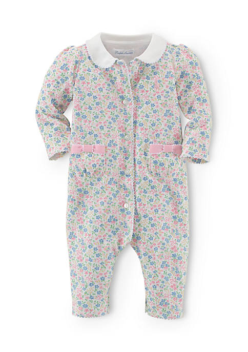 Ralph Lauren Childrenswear Long Sleeve Floral Printed Coverall