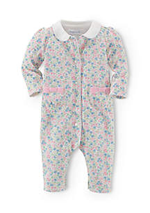 Long Sleeve Floral Printed Coverall