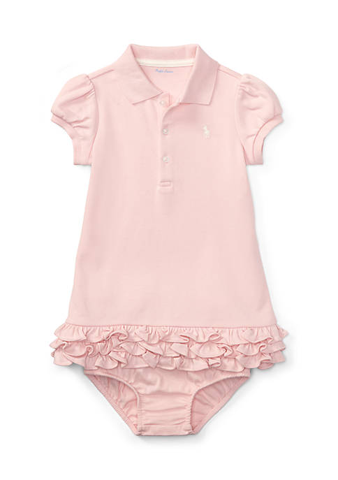 Ralph Lauren Childrenswear Baby Girls Ruffled Polo Dress