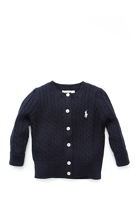 Ralph Lauren Childrenswear Cable-Knit Cotton Cardigan