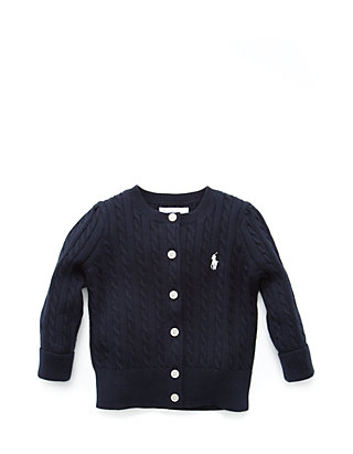 6caf2a5e0f4 Ralph Lauren Childrenswear Baby Girls Cable-Knit Cotton Cardigan ...