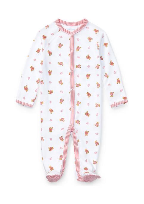 Ralph Lauren Childrenswear Baby Girls Bear Print Cotton