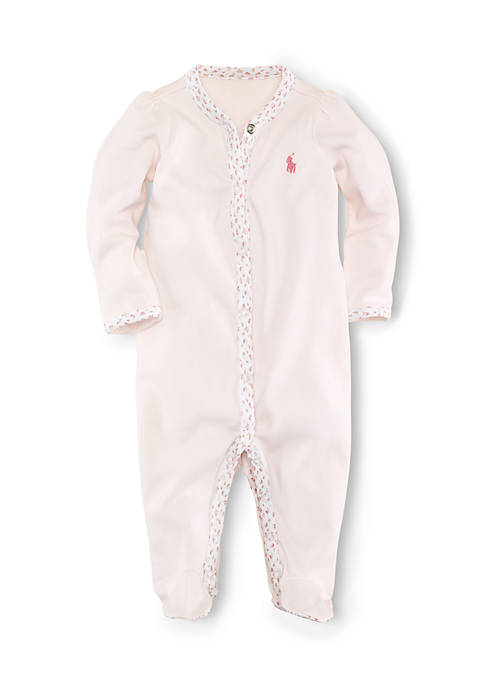 Ralph Lauren Childrenswear Floral Trim Coverall