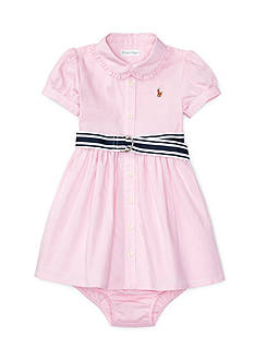 Ralph Lauren Childrenswear 2-Piece Oxford Pleat Dress Set