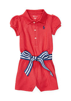 Ralph Lauren Childrenswear Cotton Polo Romper