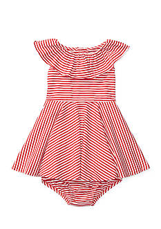 Ralph Lauren Childrenswear 2-Piece Stripe Bloomer and Dress Set