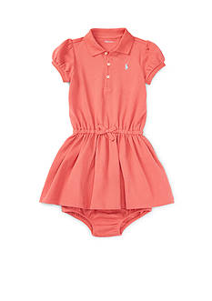 Ralph Lauren Childrenswear 2-Piece Stretch Cotton Polo Dress and Bloomers Set