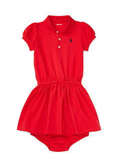 Ralph Lauren Childrenswear Cotton Stretch Polo Dress & Bloomer