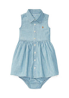Ralph Lauren Childrenswear Chambray Shirtdress & Bloomer