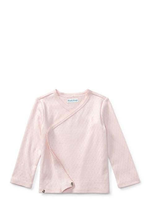 Ralph Lauren Childrenswear Pointelle Cotton Kimono Top