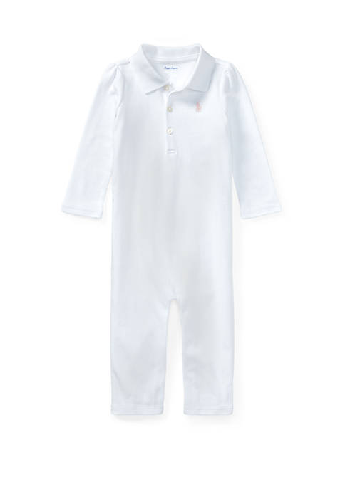 Ralph Lauren Childrenswear Cotton Polo Coverall