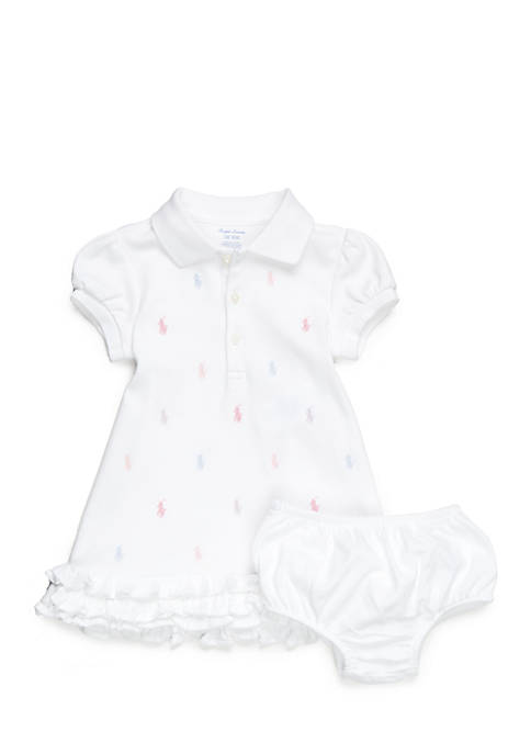 Ralph Lauren Childrenswear Ruffled Polo Dress and Bloomers