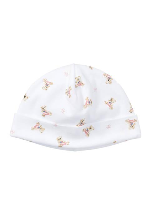 Ralph Lauren Childrenswear Baby Girl Polo Bear Cotton