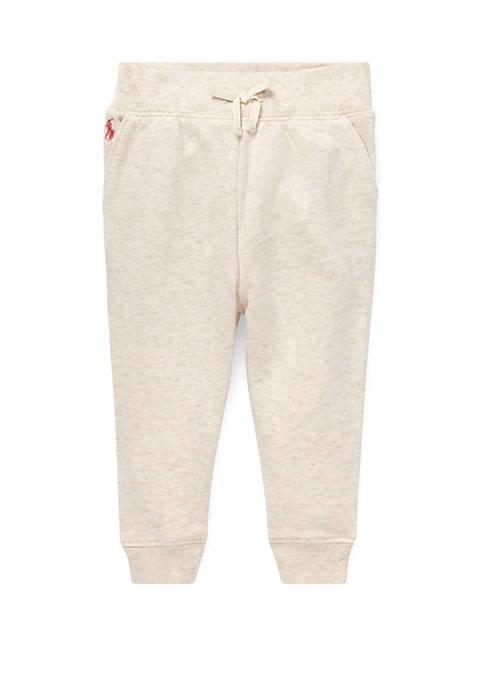 Ralph Lauren Childrenswear Baby Girls Cotton-Blend-Fleece Jogger