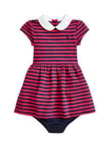 Ralph Lauren Childrenswear Baby Girls Striped Dress and Bloomers