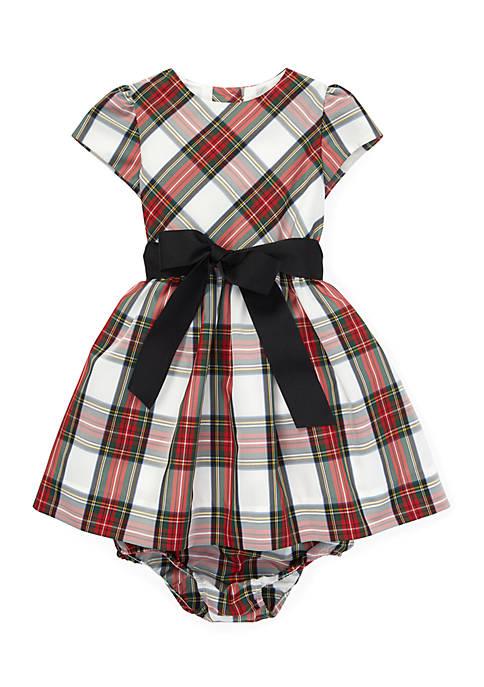 Ralph Lauren Childrenswear Infant Girls Tartan Plaid Dress