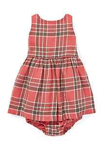 Baby Girls Plaid Fit-and-Flare Dress