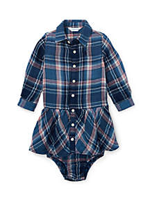 Baby Girls Plaid Cotton Shirtdress