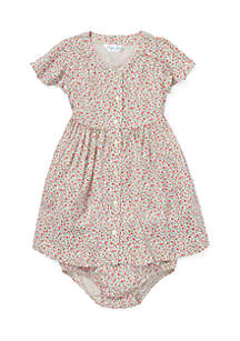 Baby Girls Floral Fit-and-Flare Dress